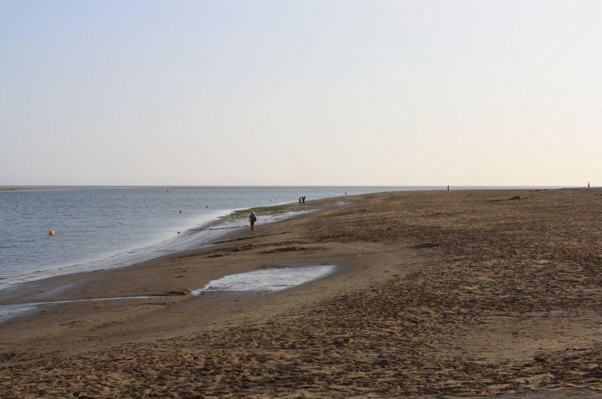 Walking along the Aberdovey Beach