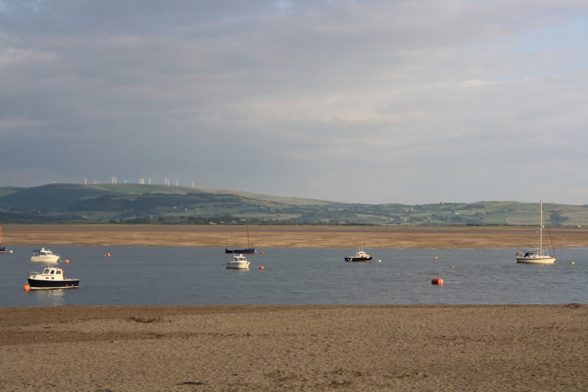 A view over Aberdovey estuary as the tide turns.