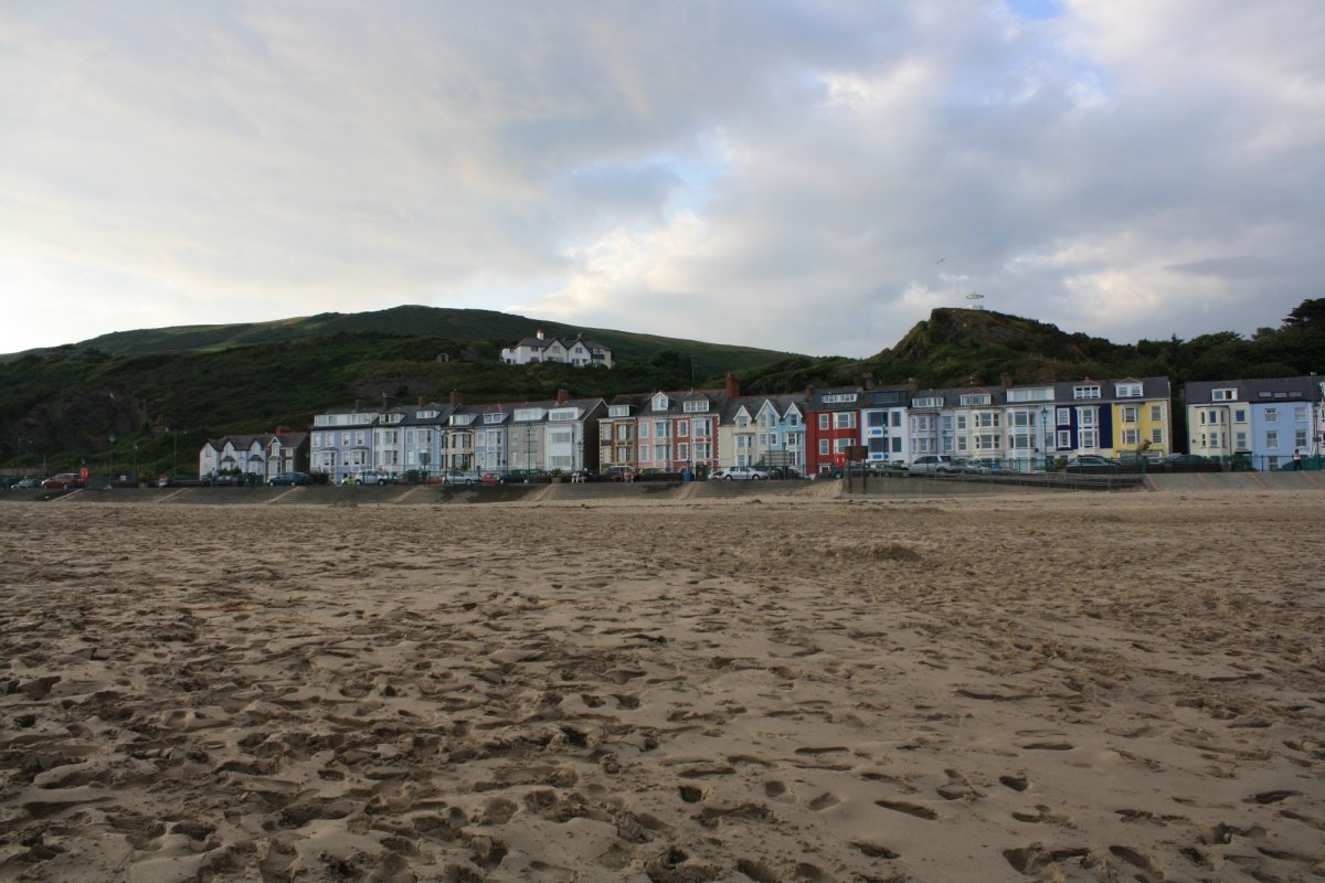 The Aberdovey beach and seafront