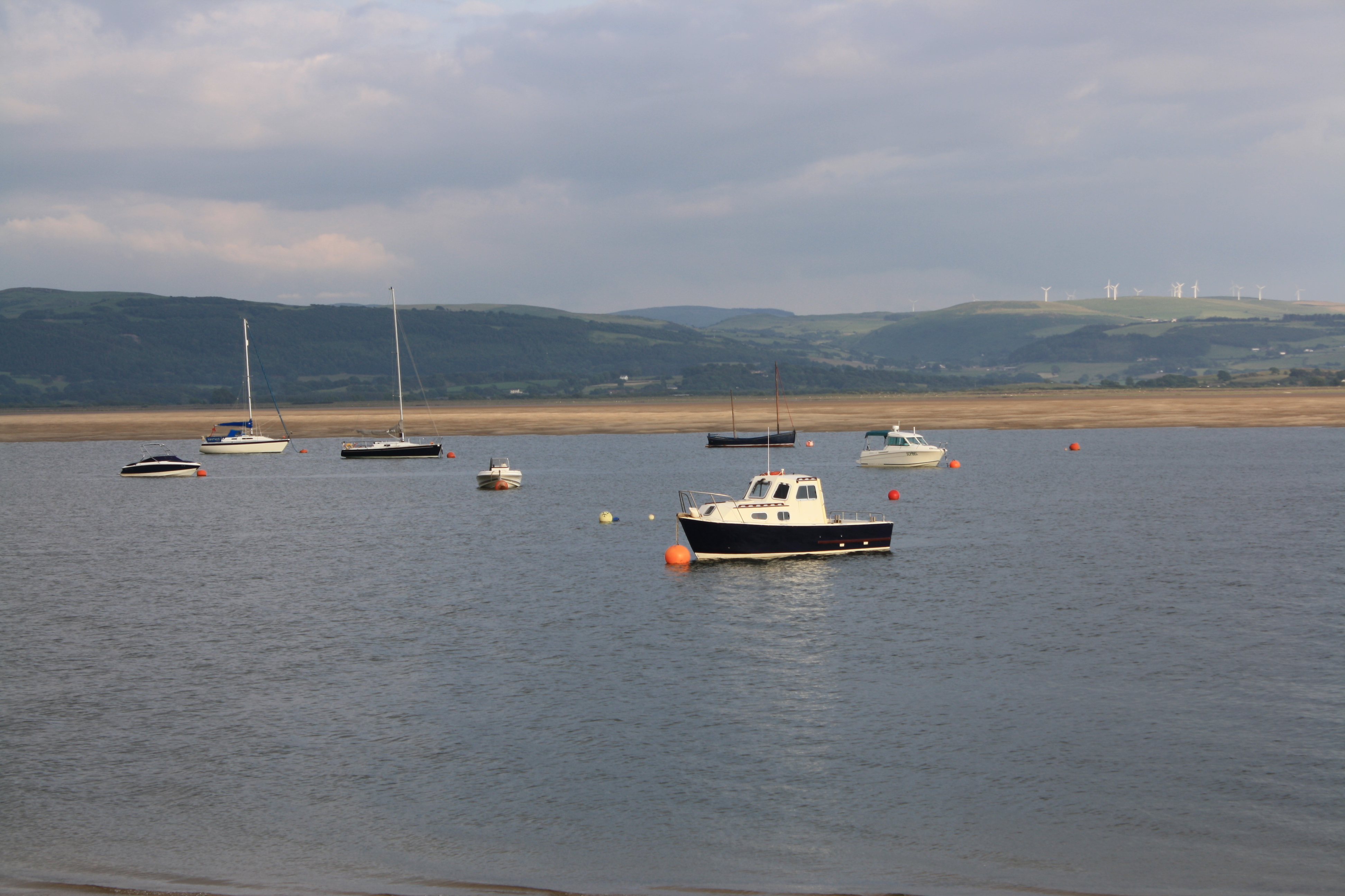 Boats in the Aberdovey Estuary