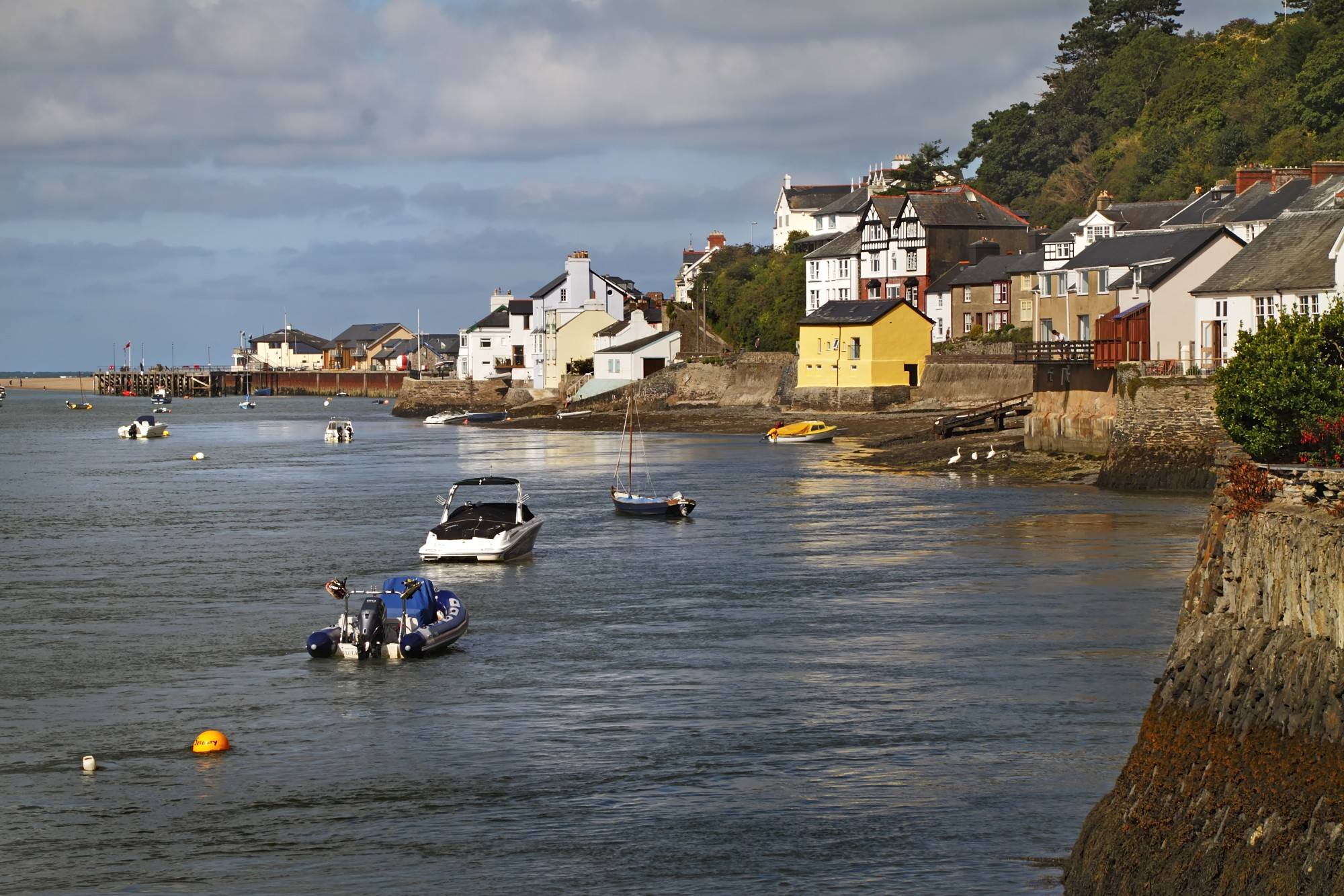 Boats in Aberdovey from Penhelig Arms