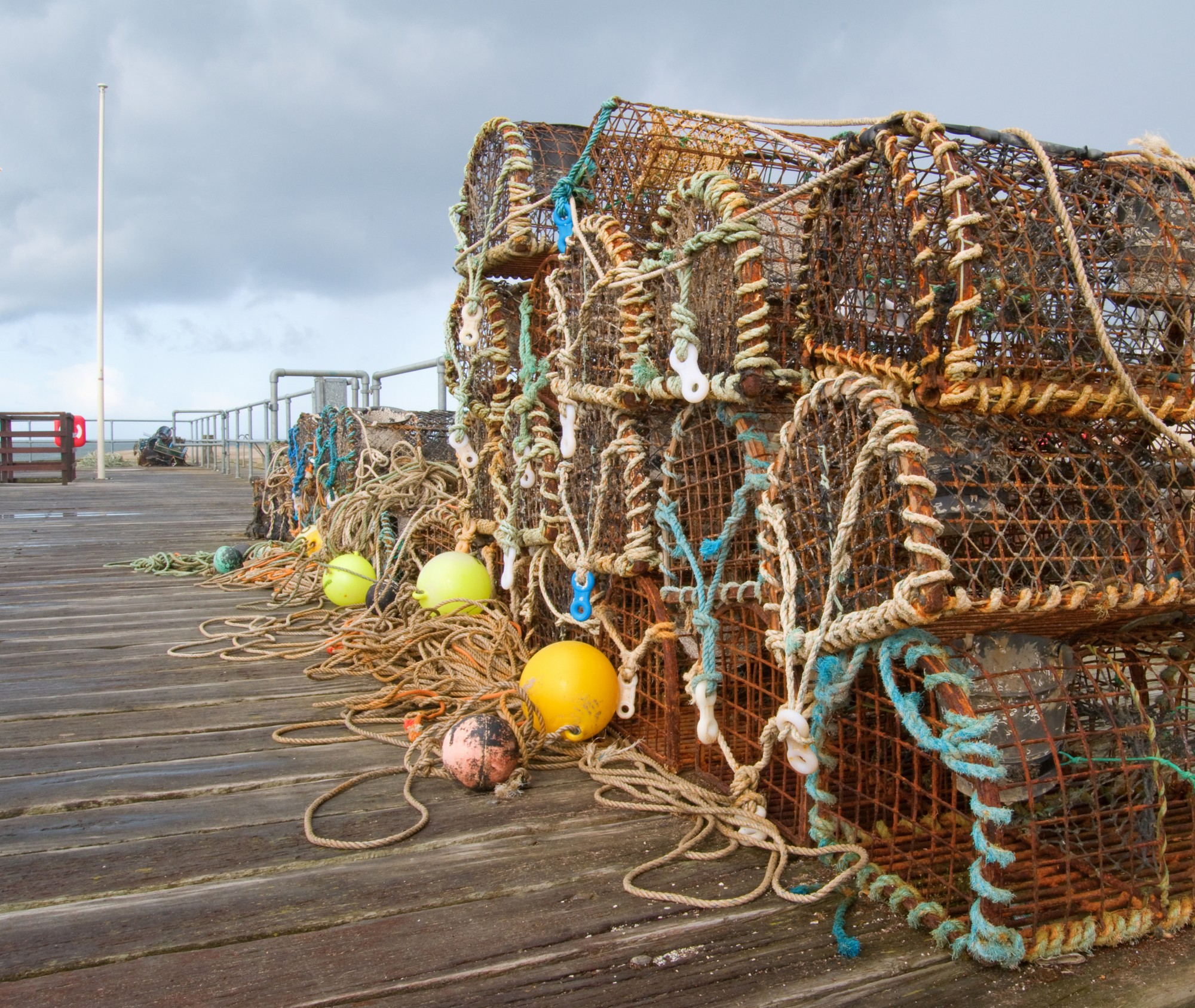 Lobster pots of the Aberdovey pier