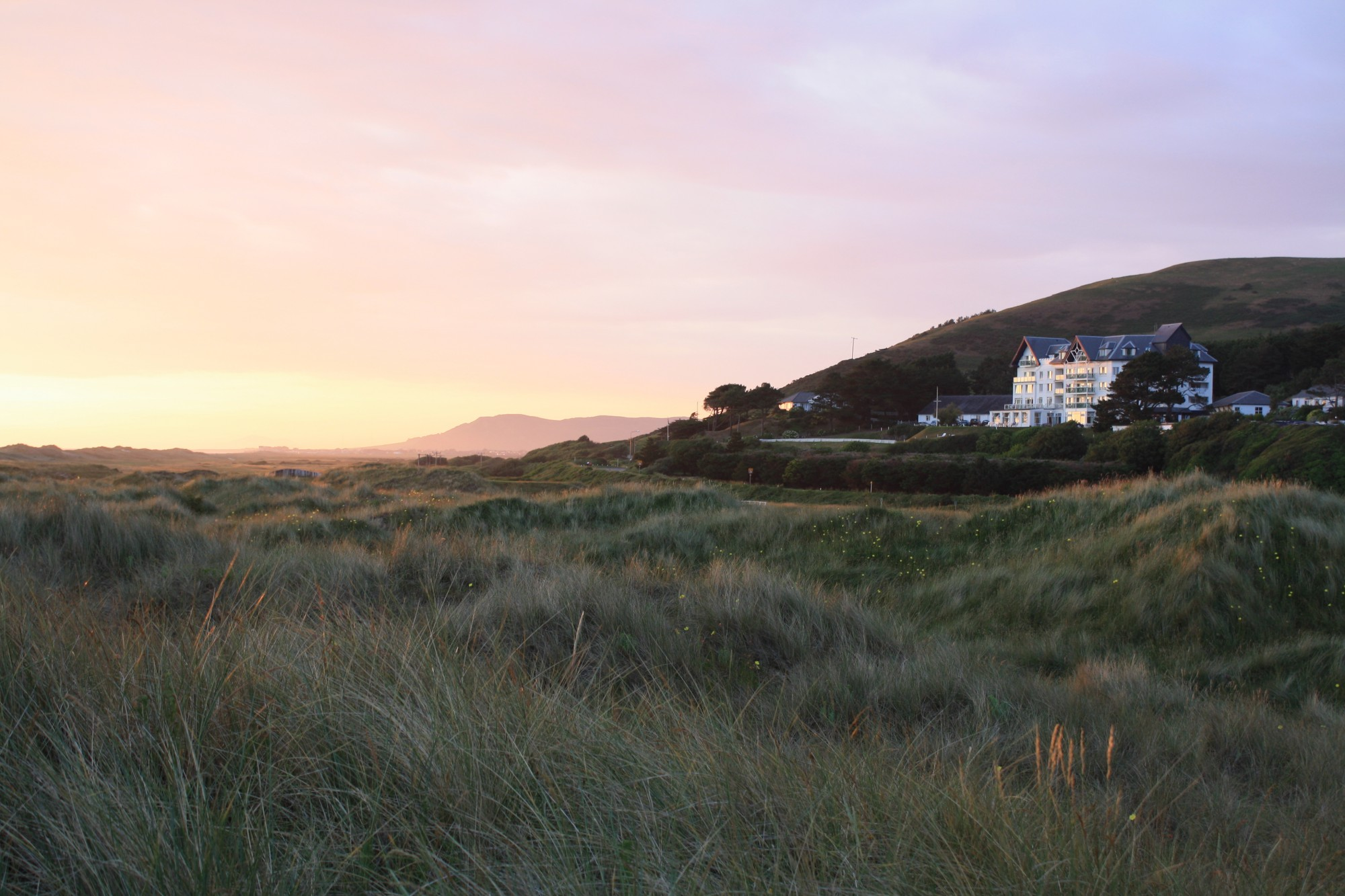Looking over the Aberdovey dunes and golf course