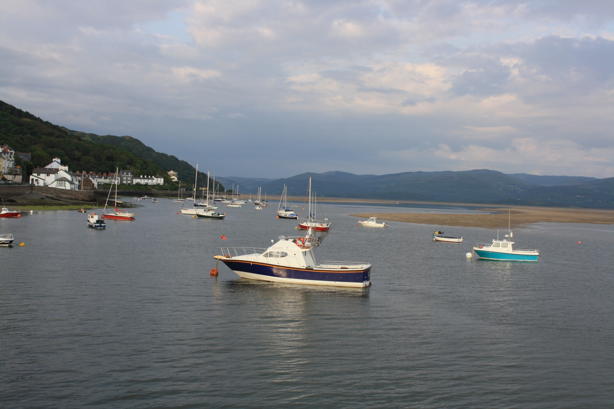Looking up Aberdovey estuary from pier